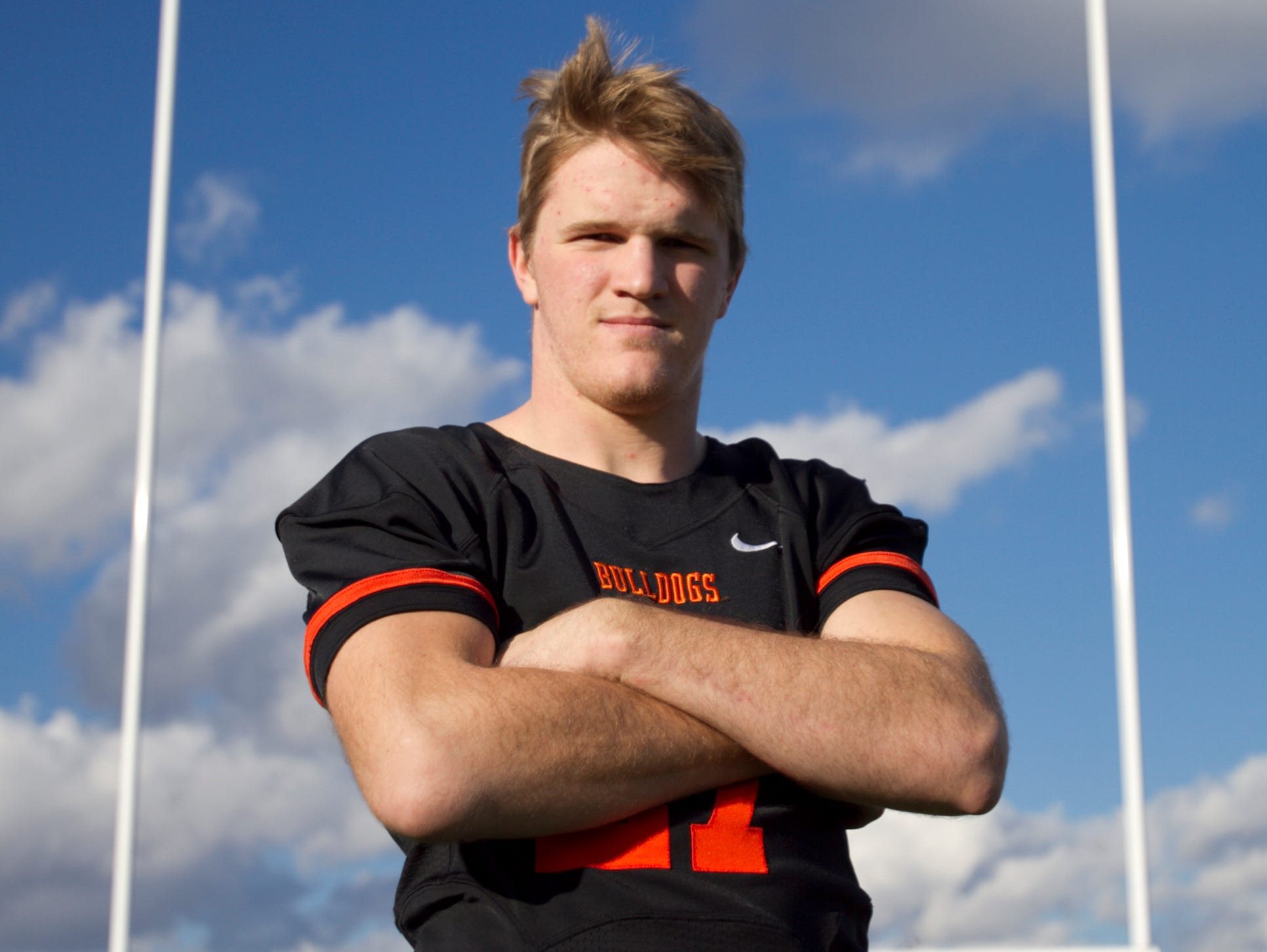 Brighton's Joey Clifford is the Football Offensive Player of the Year.