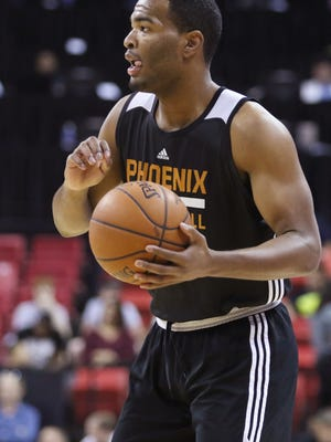 Phoenix Suns guard T.J. Warren plays during an NBA Summer League game against Utah Jazz on Tuesday, July 14, 2015, in Las Vegas