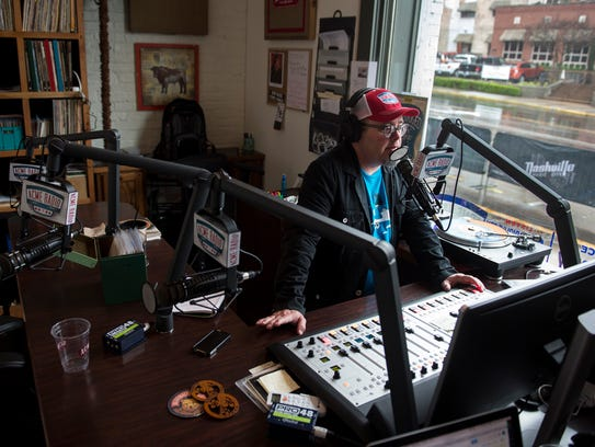 "Tim Hibbs, DJ of ""Vinyl Lunch,"" hosts his daily show"