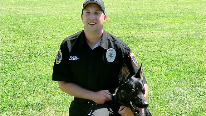 """Rockland County Sheriff Patrol Sergeant Chris Ford and his K-9 partner """"Shadow"""""""