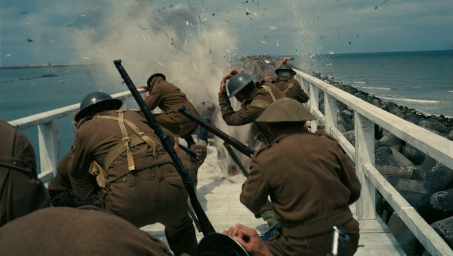 The mole gets attacked by German planes in 'Dunkirk.'