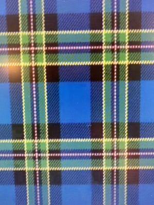 The tartan designed by Kelley Coen that represents Newport.