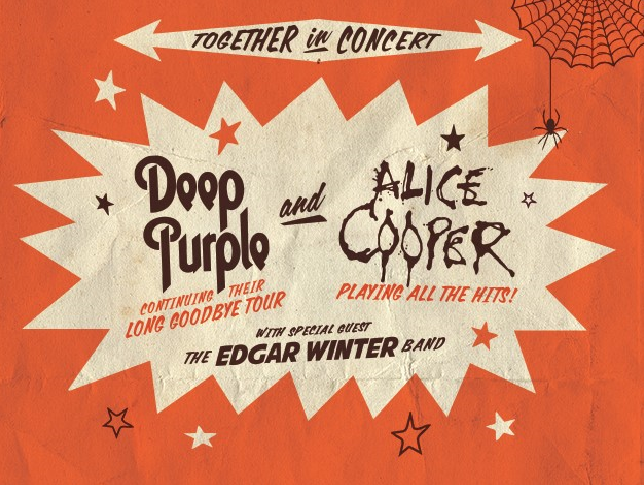 See Deep Purple and Alice Cooper live in concert on September 3rd at DTW Energy Music Theater.