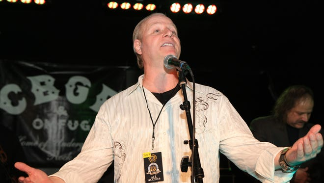 Comedian Mike Marino, pictured at the Asbury Lanes during the 2013 Light of Day music festival.