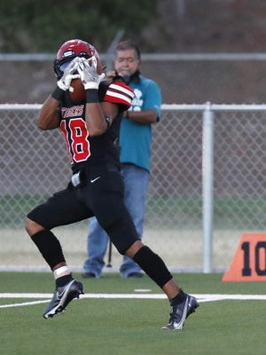 Slaton High's Matt Vigil (18) leads LSV coverage area wide receivers with 16 catches for 296 yards and two touchdowns this season. Statistics are based off coaching staff submissions by 5 p.m. Tuesday.