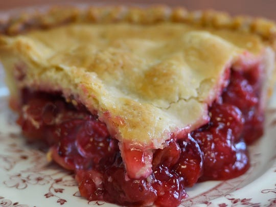 Homemade tart cherry pie from Grandma Tommy's of Sturgeon
