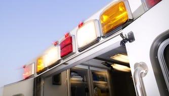 Ambulance lights.