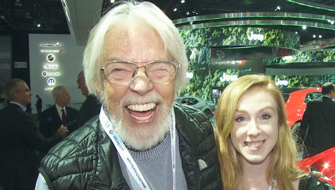 Bob Seger and his daughter Samantha visit the 2018 Detroit auto show.