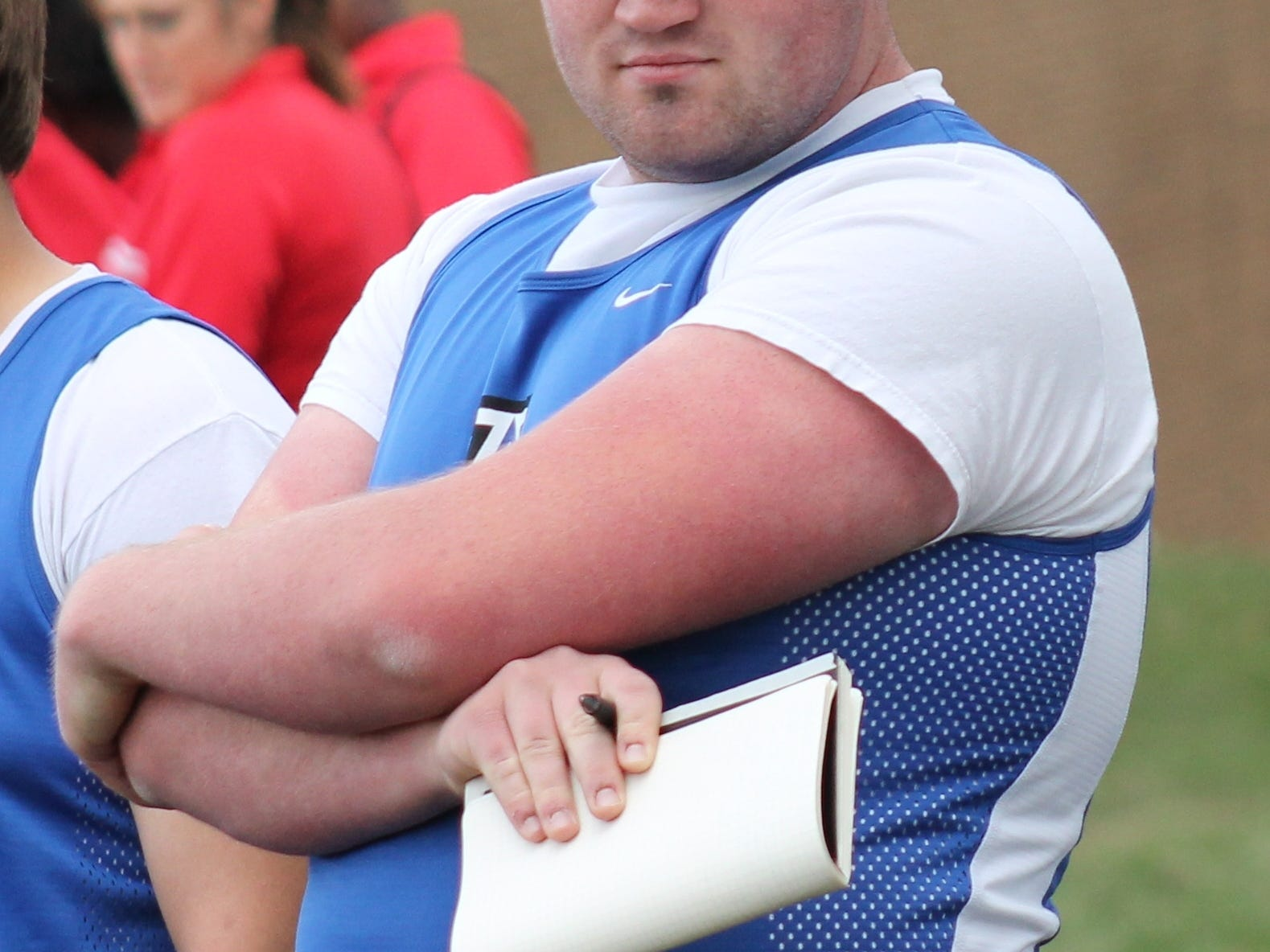 Senior Cameron Behymer is a veteran thrower for Amelia.