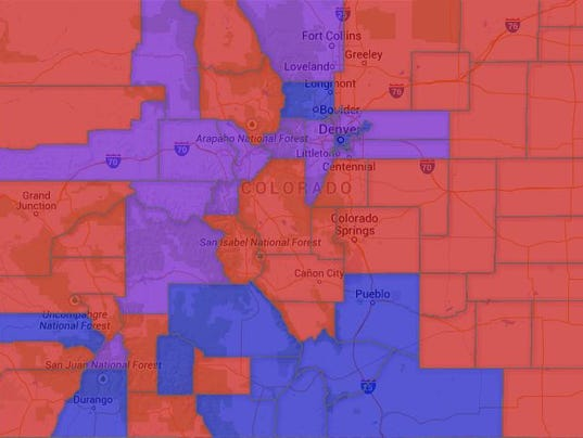 Map Colorado Voter Party Affiliation By County - Colorado county map