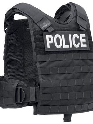 This Protech TAC PH plate harness is an example of rifle-resistant body armor.