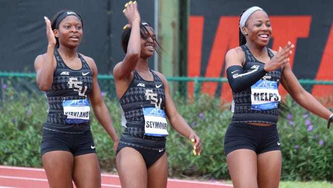 Three female sprinters qualified for an NCAA Regional in both the 100 and 200 meters for the first time in program history.