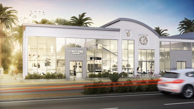 A rendering of Timeless – An MHK Eatery, a restaurant and lounge  projected to open in early February at 90 Ninth St. N. on the corner of First Avenue North and U.S 41 in Naples.