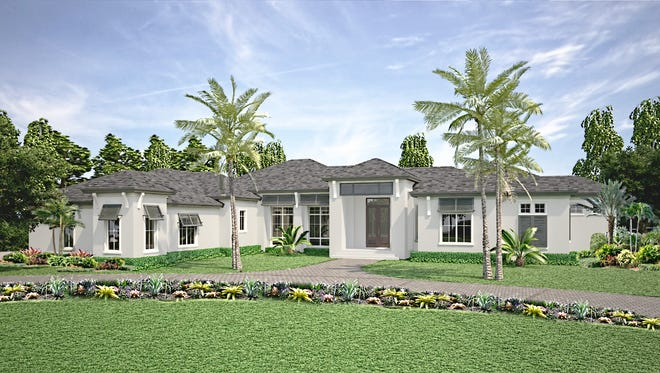 McGarvey's Southampton estate home model, currently under construction in Quail West, should be completed by early February.