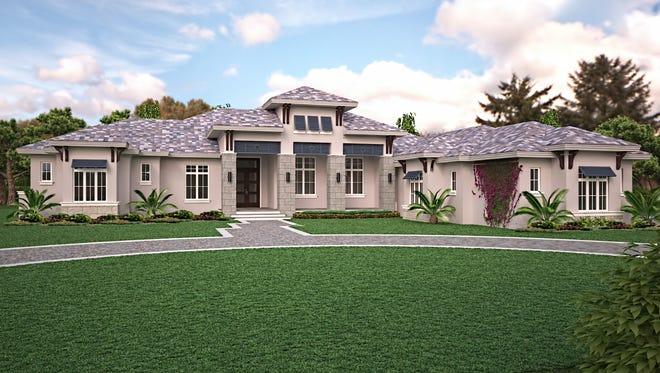 The Beechwood model is underway by McGarvey Custom Homes in Quail West.