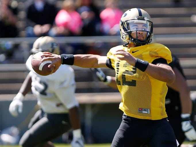 White team tops black 45 30 in purdue spring football game for Lafayette cds 30