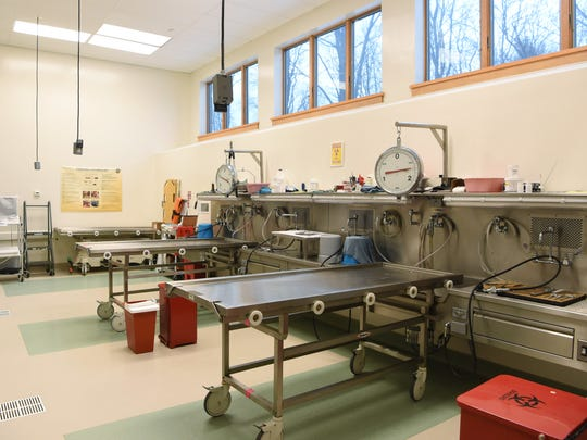 A view of the main space at Dutchess County's Medical Examiner facility in the City of Poughkeepsie.