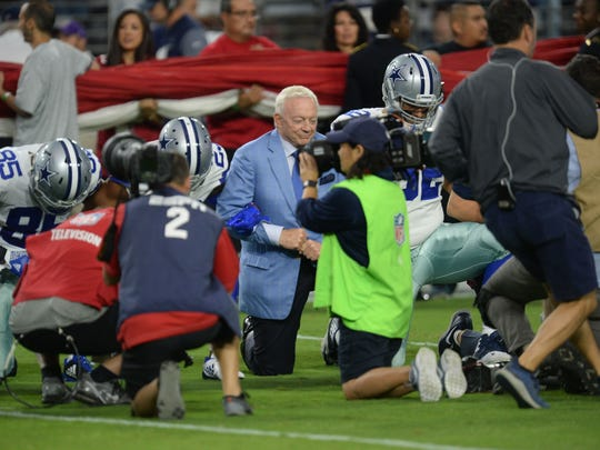 Sep 25, 2017; Glendale, AZ, USA; Dallas Cowboys owner