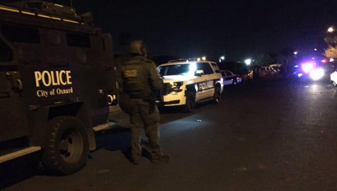 Three search warrants were served Friday night in Oxnard.