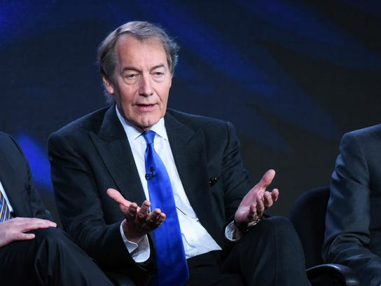 "In this file photo, Charlie Rose participates in the ""CBS This Morning"" panel at the CBS 2016 Winter TCA in Pasadena, Calif. The Washington Post says eight women have accused television host Charlie Rose of multiple unwanted sexual advances and inappropriate behavior."