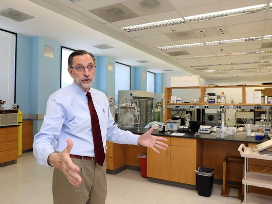 John Eldridge, chief scientific officer for Profectus BioSciences, a vaccine research and development company, talks about the layout of one of their labs June 11, 2018 in Pearl River. The company has moved into 39,500 square feet of lab and office space at the New York Center for Innovation, a section of the former Pfizer research campus.