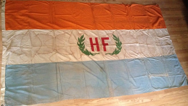 This original flag from the Hudson-Fulton Celebration of 1909, 7.5 x 4.5 feet, has spent more than a century in the archives of the Asbury Park Press.