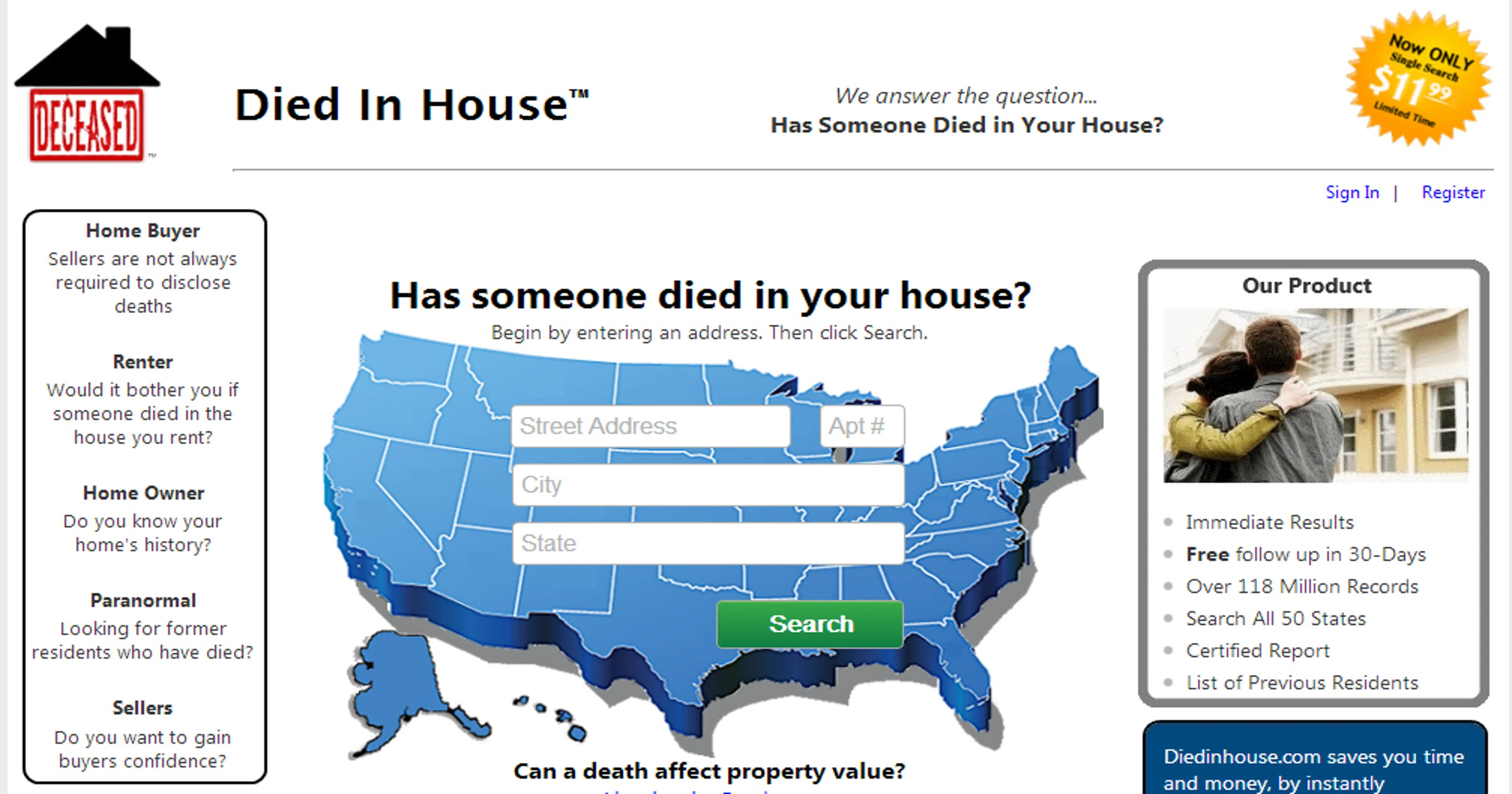 Want to know who died in your home? Check this site