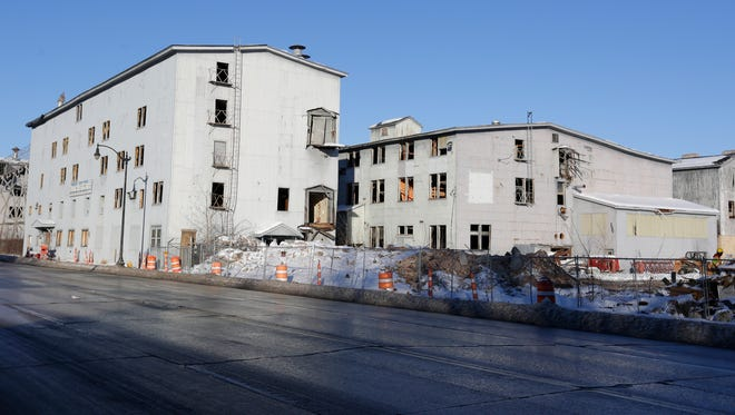 Two Buckstaff buildings along South Main Street have been torn down in the past week, one wood framed building and one brick building have been demolished.  December 20, 2016.Joe Sienkiewicz / USA TODAY NETWORK-Wisconsin