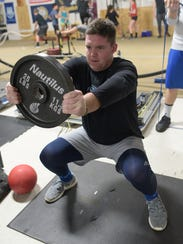 Jeremiah Riordan puts everything he has into workouts
