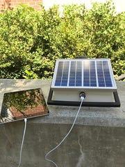 Ziad Ahmen invents a portable 3D printed solar paneled