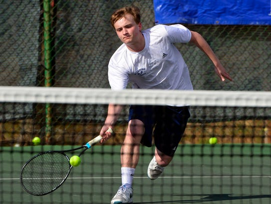 David Trimmer picked up a singles win Wednesday for