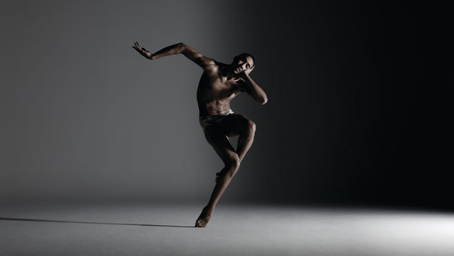 Dancer Shuaib Elhassa from Alonzo King Lines Ballet, which performs at the Brown Theatre this season.