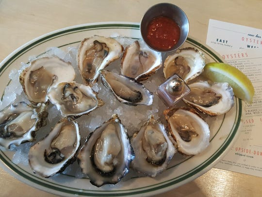 Oysters from Ferndale's Voyager restaurant.
