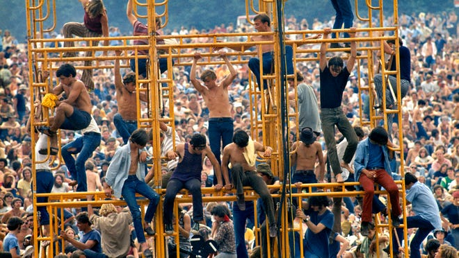 The towers at Woodstock are climbed.