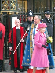 Gary Sedan, and his wife, made many trips to the United Kingdom for their business. On one, they were able to snap this picture of Queen Elizabeth II.