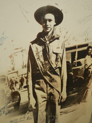 A photograph that shows Bill Raggio in his Boy Scout uniform is part of a new exhibit at the Nevada State Museum on the late state senator's early life.