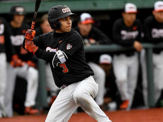 OSU shortstop Nick Madrigal is hitting a team-high 426 with three homers and 11 RBI.