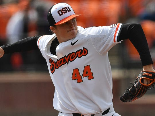 OSU pitcher Jake Thompson leads the nation with 14 wins.