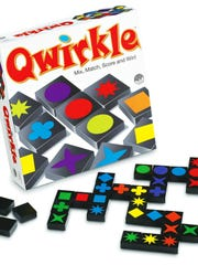 Qwirkle is a little like dominoes, a little like Scrabble, only with colorful wood tiles.