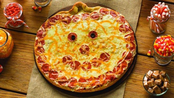 The Jack-O-Lantern pizza from Papa Murphy's.