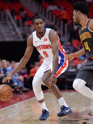 Langston Galloway has scored 21 points off the bench in two games this season for the Pistons.