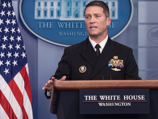 President Trump has nominated Rear Adm. Ronny Jackson, the White House physician, to lead the Department of Veterans Affairs.