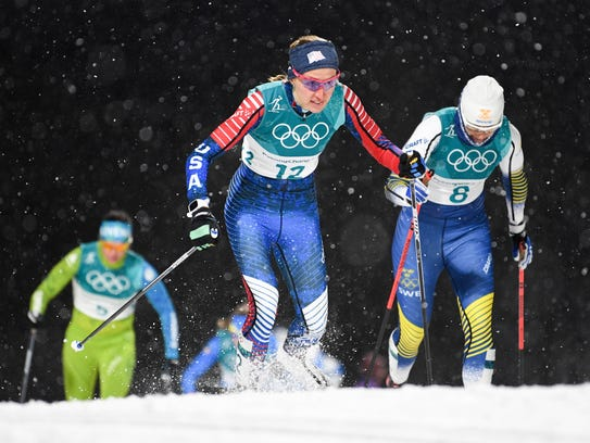 Sophie Caldwell from the U.S.competes in the cross