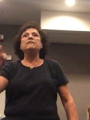 Belleville resident Phyllis Frantantoni addresses her