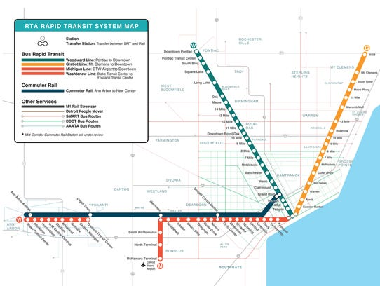 This sample map shows what the Regional Transit Authority