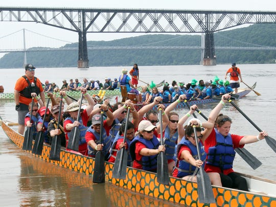The 4th Annual Dutchess Dragon Boat Race and Festival on the Hudson River in Poughkeepsie July 22, 2017. This year the event raised money for Habitat for Humanity of Dutchess County.