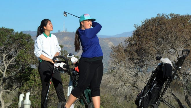 La Reina's Haylee McGovern (right) has helped her team stay near the top of the Tri-Valley League standings despite losing several key players.