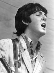 Paul McCartney performs at Crosley Field.