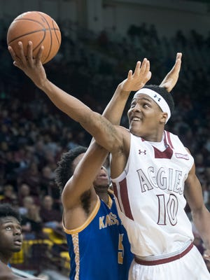 Jemerrio Jones and New Mexico State will face Davidson to open the Diamond Head Classic on Dec. 22 in Honolulu, Hawaii.