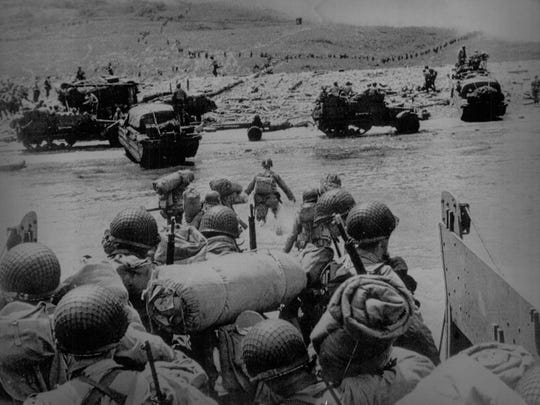 On June 6, 1944, Operation Overlord, aimed at liberating German-occupied western Europe, commenced as Allied forces stormed the beaches of Normandy, France, on D-Day.
